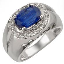 Genuine 3.33 ctw Kaynite & Diamond Ring 10K White Gold - 10876-#88N3F
