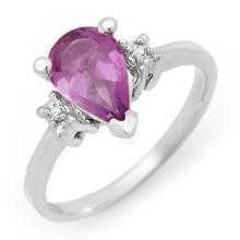 Natural 1.78 ctw Amethyst & Diamond Ring 10K White Gold - 12281-#18P7X