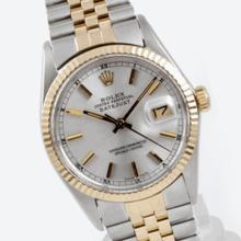 Pre-owned Excellent Condition Authentic Rolex Quickset Men's 18K/Stainless Steel DateJust Silver Dial Watch - REF#-289K2W