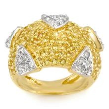 Natural 5.0 ctw Yellow Sapphire & Diamond Ring 14K Yellow Gold - 11612-#143V7A