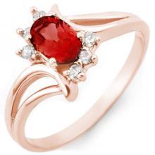 Natural 0.70 ctw Pink Tourmaline & Diamond Ring 14K Rose Gold - 10486-#23G3R