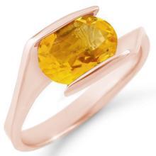 Genuine 2.0 ctw Citrine Ring 10K Rose Gold - 11351-#17G2R