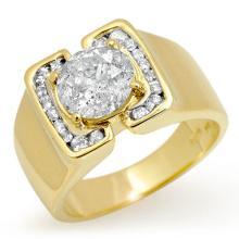 Genuine 2.08 ctw Diamond Men's Ring 10K Yellow Gold - 13469-#687H8W