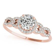 1.08 CTW Certified Diamond Solitaire Bridal Ring 18K Rose Gold - 27961-REF#154N8F