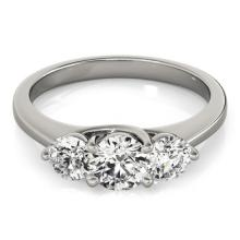3 CTW Certified Diamond 3 Stone Bridal Solitaire Ring 18K White Gold - 28017-REF#646X8Y