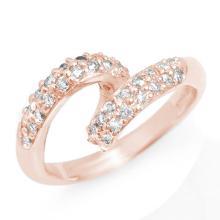 Natural 0.60 ctw Diamond Ring 14K Rose Gold - 11188-#48V6A