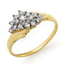 Genuine 0.25 ctw Diamond Ring 14K Yellow Gold - 13593-#25T3Z