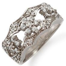 Genuine 0.90 ctw Diamond Ring 14K White Gold - 11381-#59T7Z