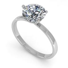 1.51 CTW Certified Diamond Solitaire Engagement Ring Martini 14K White Gold - 30580-REF#429X2Y