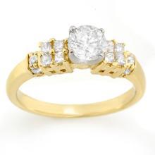 Natural 1.0 ctw Diamond Bridal Engagement Ring 14K 2-Tone Gold - 11626-#110T4Z