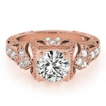 1.25 CTW Certified Diamond Solitaire Bridal Antique Ring 18K Rose Gold - 27298-REF#302H3W