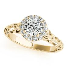 0.62 CTW Certified Diamond Solitaire Bridal Antique Ring 18K Yellow Gold - 27326-REF#101N2F