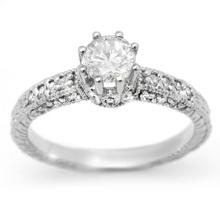 Natural 0.85 ctw Diamond Solitaire Ring 14K White Gold - 13700-#79M5G