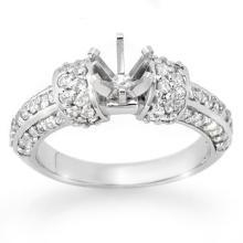 Genuine 0.75 ctw Diamond Bridal Engagement Ring 14K White Gold - 13303-#59R3H