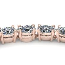 35 CTW Bridal Eternity Oval Cut Certified Diamond Tennis Necklace 14K Rose Gold - 30621-REF#2923X4Y