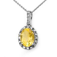 Natural 2.05 ctw Citrine & Diamond Pendant 14K White Gold - 13664-#14W2K