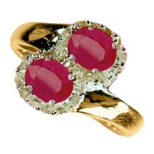 Natural 1.73 ctw Ruby & Diamond Ring 10K Yellow Gold - 12870-#31Z7P