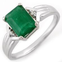 Natural 1.53 ctw Emerald & Diamond Ring 18K White Gold - 11058-#27M2G