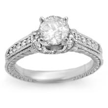 Natural 1.05 ctw Diamond Bridal Ring 14K White Gold - 11268-#302Z3P
