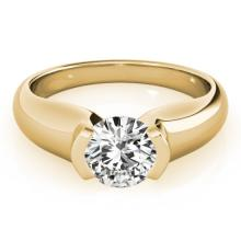 Genuine 1.0 CTW Certified Diamond Solitaire Bridal Ring 18K Yellow Gold - 27806-REF#303Y7V