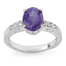 Natural 2.68 ctw Tanzanite & Diamond Ring 14K White Gold - 13914-#52G3R