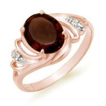 Genuine 2.03 ctw Garnet & Diamond Ring 14K Rose Gold - 12661-#21W3K