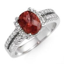 Natural 1.75 ctw Pink Tourmaline & Diamond Ring 10K White Gold - 10696-#54M8G