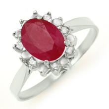 Natural 1.78 ctw Ruby & Diamond Ring 10K White Gold - 12788-#17V2A