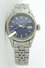 Rolex Ladies Stainless Steel, Index Bar Dial, Fluted Bezel, Saph Crystal - REF#218H2T