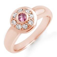 Natural 0.35 ctw Pink Sapphire & Diamond Ring 14K Rose Gold - 13568-#35M2G