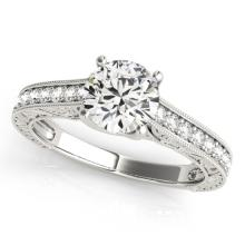 1.82 CTW Certified Diamond Solitaire Bridal Ring 18K White Gold - 27561-REF#455Y3X