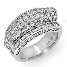 Genuine 2.0 ctw Diamond Ring 14K White Gold - 11857-#121R9H