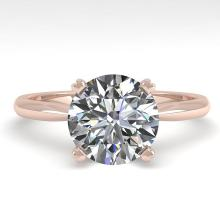2.0 CTW Certified Diamond Bridal Solitaire Engagement Ring 14K Rose Gold - 14536-REF#766A5V
