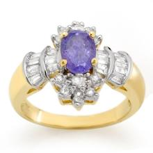 Natural 1.76 ctw Tanzanite & Diamond Ring 14K Yellow Gold - 10566-#68M5G