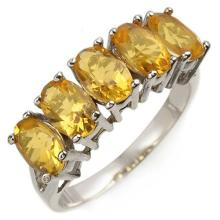 Natural 2.0 ctw Citrine Ring 10K White Gold - 10860-#12X8Y