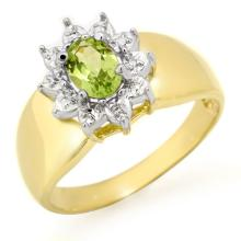 Natural 0.46 ctw Peridot Ring 10K Yellow Gold - 12674-#14N2F
