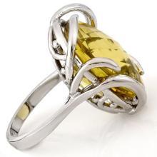 Natural 20.0 ctw Lemon Topaz Ring 10K White Gold - 10822-#47N2F