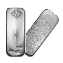 One piece 100 oz 0.999 Fine Silver Bar Johnson Matthey