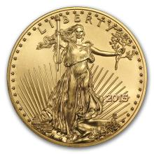 Brilliant Uncirculated 2015 American Eagle 1/2 oz .9999 Fine Gold