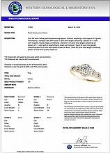 1.33 CTW Certified Diamond Solitaire Bridal Ring 18K Yellow Gold - 27965-REF#277M9G