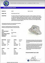 1.45 CTW Certified Diamond Bridal Solitaire Halo Ring 18K White & Yellow Gold - 26239-REF#183A3V