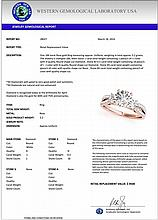 1.50 CTW Certified Diamond 3 Stone Bridal Solitaire Ring 18K Rose Gold - 28027-REF#289G8M