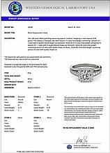 1.50 CTW Certified Diamond Bridal Solitaire Halo Ring 18K White Gold - 26940-REF#200H2W