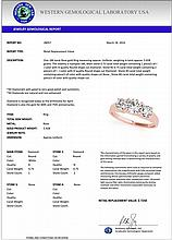 1.50 CTW Certified Diamond 3 Stone Bridal Solitaire Ring 18K Rose Gold - 28057-REF#199A2V