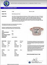 1.80 CTW Certified Diamond Bridal Solitaire Halo Ring 18K Rose Gold - 27100-REF#206G8M