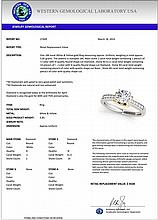 1.11 CTW Certified Diamond Solitaire Bridal Ring 18K White & Yellow Gold - 27449-REF#277A8V
