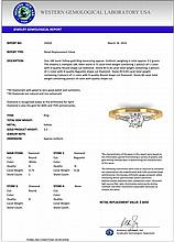 1.04 CTW Certified Diamond Solitaire Engagement Ring 18K Yellow Gold - 32650-REF#152H2W