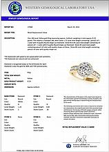 2.10 CTW Certified Diamond Bridal Solitaire Halo Ring 18K Yellow Gold - 27068-REF#376Y9X