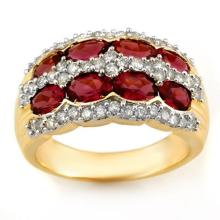 Natural 3.0 ctw Pink Tourmaline & Diamond Ring 14K Yellow Gold - 11550-#81X2Y