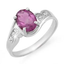 Natural 1.26 ctw Amethyst & Diamond Ring 10K White Gold - 12502-#14Y8V